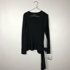 International Concepts Black Long Sleeve Sweater